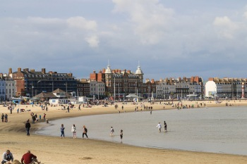 Weymouth Beach and town centre. Image: Chris Parker, Flickr