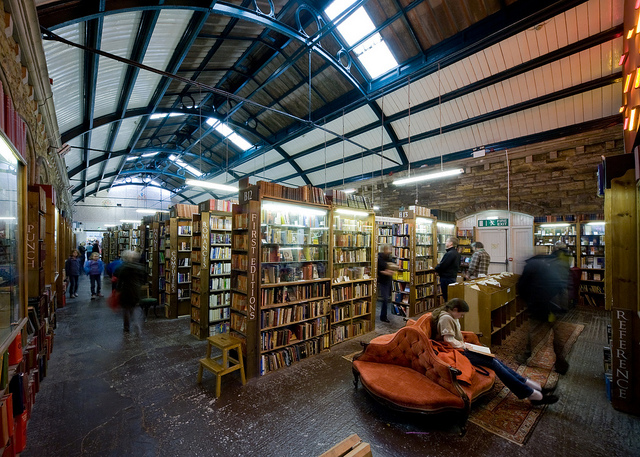 One of the biggest second-hand book stores in the UK. Barter books. Image: arewenearlythereyetmummy.com