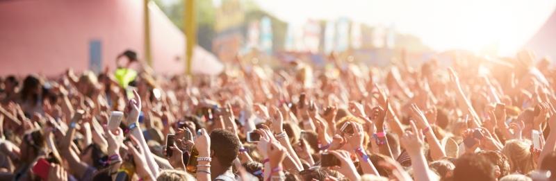 Audience At Glastonbury Festival