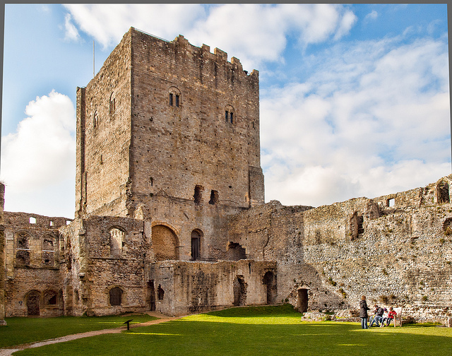 Portchester Castle. Image: Angus Kirk