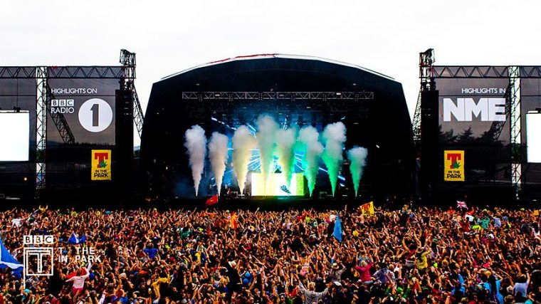 T in the Park. Image: BBC