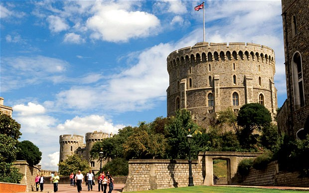 A view of Windsor Castle from Windsor. Image: Telegraph