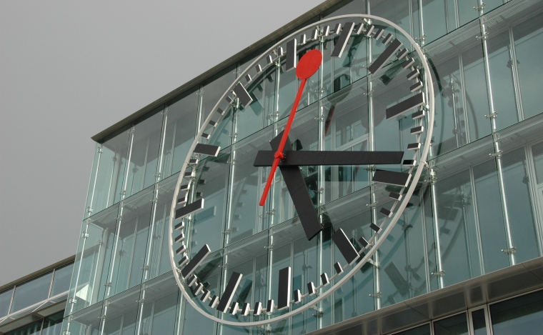 The iconic design of the Swiss railway clock adorned stations, office buildings and wrists around the world.