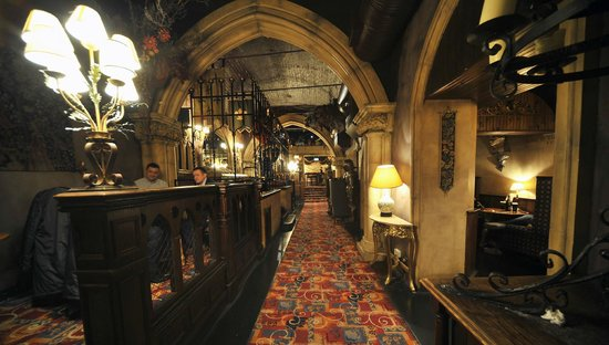 The Crypt like architecture of the Bacchus Bar makes it a unique lunch spot.