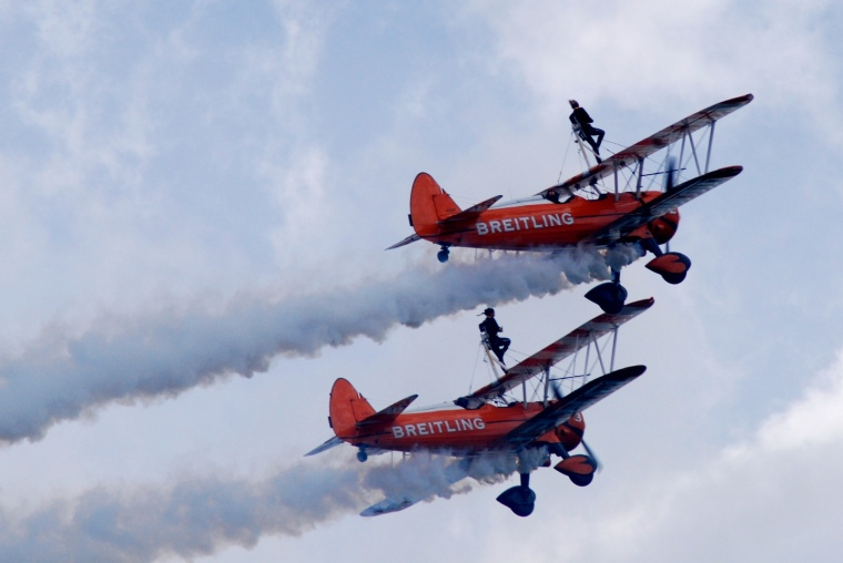 Wing Walkers wow the crowds at Scotland's East Fortune Airshow. Image: Gareth Edwards, Flickr