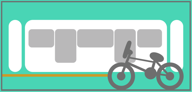 Locate the correct carriage with bicycle storage