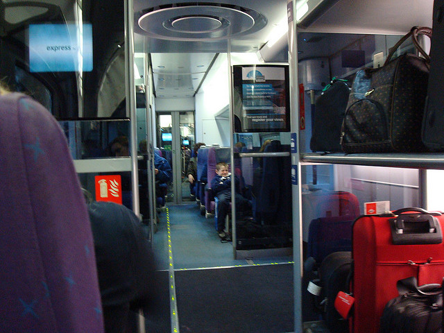 Heathrow Express and Connect trains are equipped with extra luggage racks