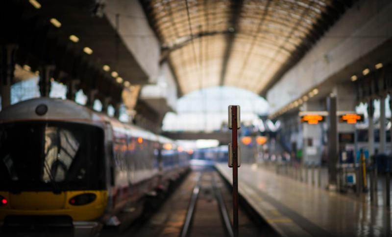 Heathrow Express train at paddington