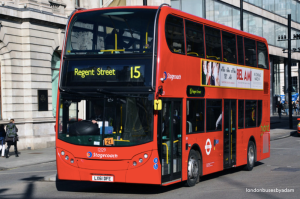 London's number 15 bus can be particularly useful to users of the Circle and District lines during a strike.