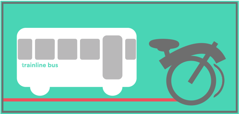 Only fold-up bikes are allowed on rail replacement bus services.