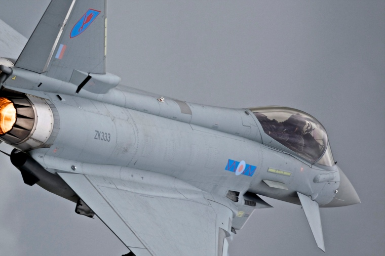 A Royal Air Force Typhoon performs at the Royal International Air Tattoo. Image: Peter Gronemann, Flickr.