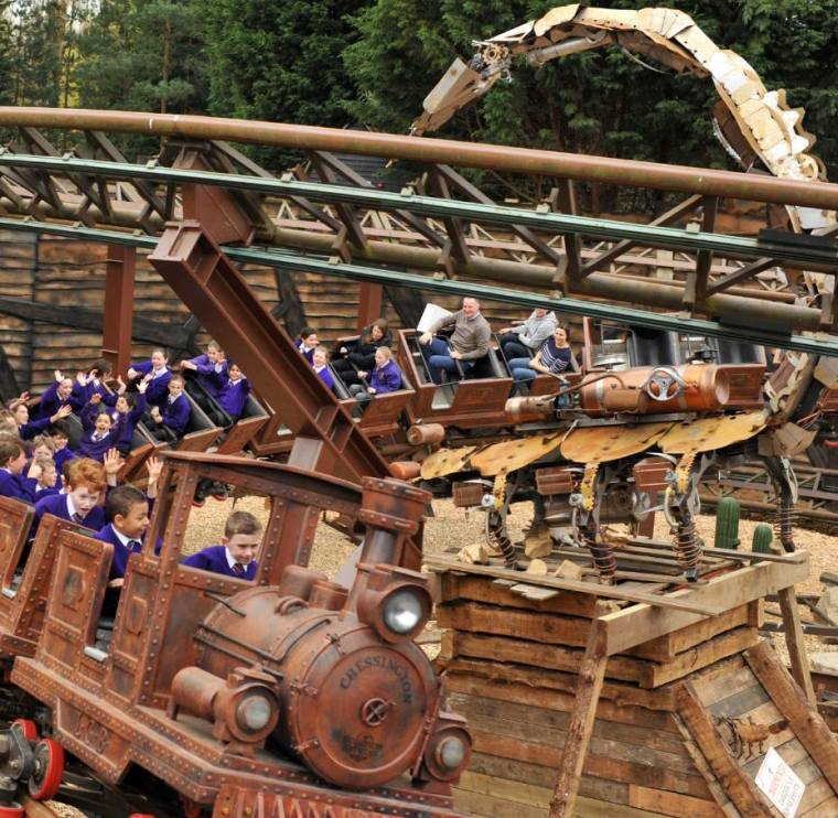 The Scorpion express at Chessington World of Adventures