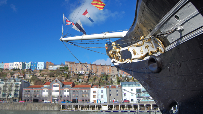 The SS Great Britain, moored in Bristol
