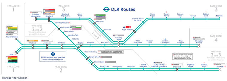 The Docklands Light Railway is usually unaffected by London Underground Strikes, and offers easy access to East London and Docklands.