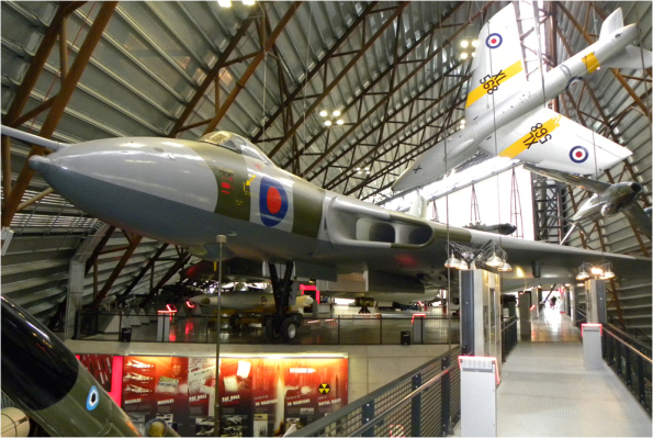 The Avro Vulcan bomber forms a centrepiece of a hangar at the RAF Museum Cosford. Image: Shropshirelive.